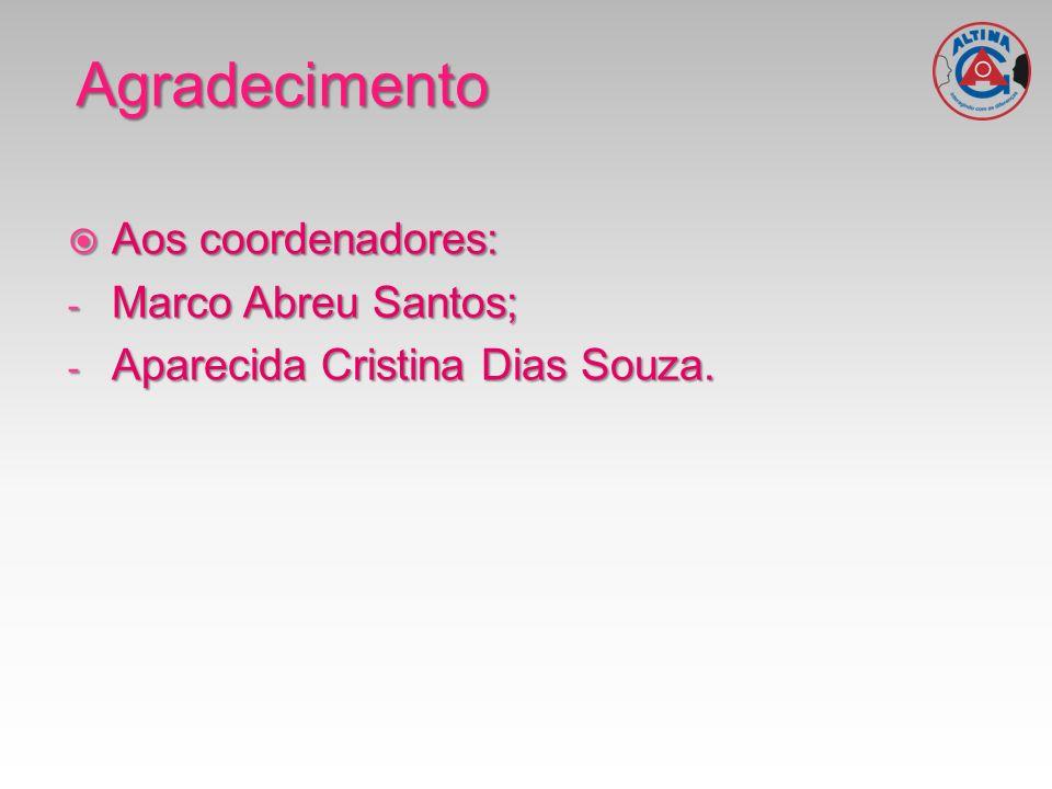 Agradecimento Aos coordenadores: Marco Abreu Santos;