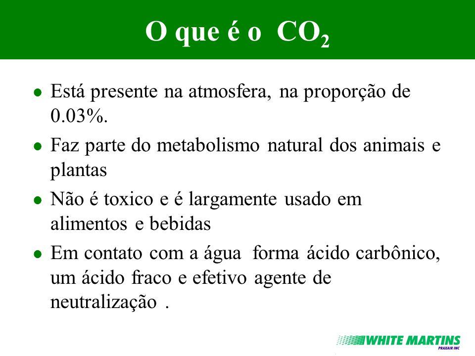 O que é o CO2 Está presente na atmosfera, na proporção de 0.03%.