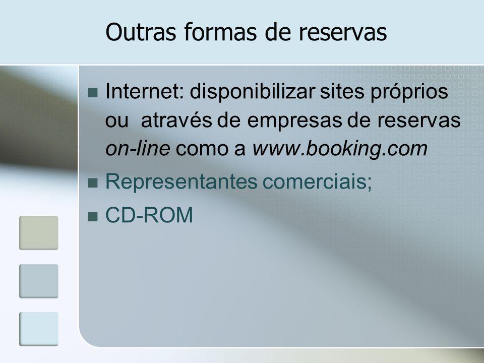 Outras formas de reservas