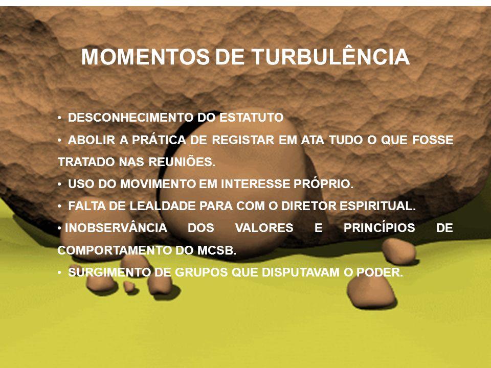 MOMENTOS DE TURBULÊNCIA