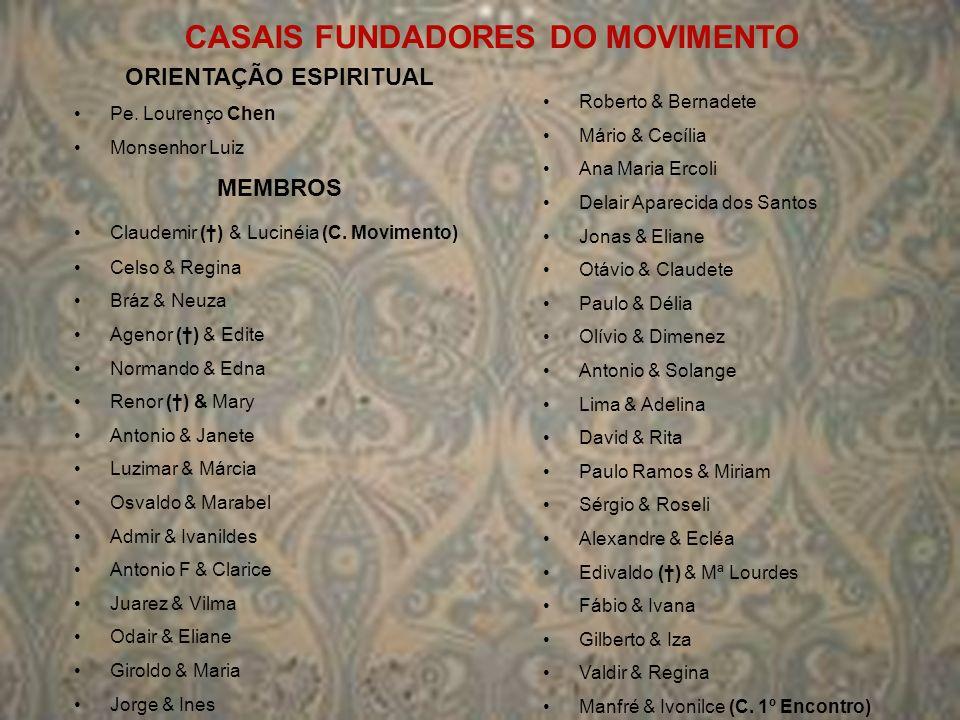 CASAIS FUNDADORES DO MOVIMENTO ORIENTAÇÃO ESPIRITUAL