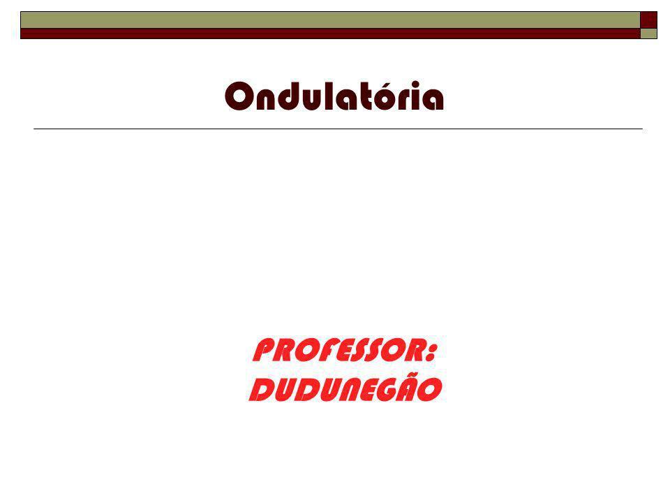 Ondulatória PROFESSOR: DUDUNEGÃO