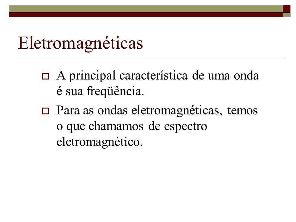 Eletromagnéticas A principal característica de uma onda é sua freqüência.