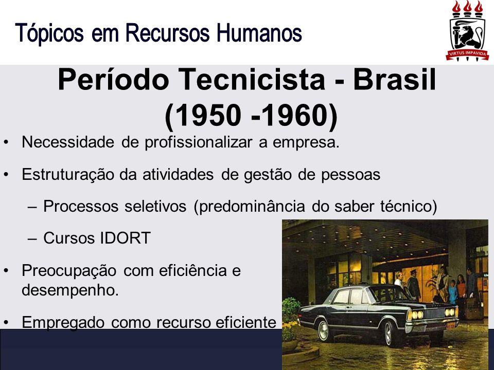 Período Tecnicista - Brasil (1950 -1960)