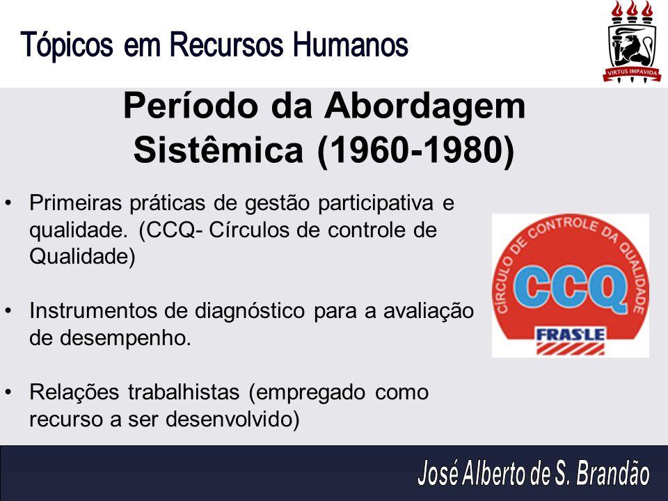 Período da Abordagem Sistêmica (1960-1980)
