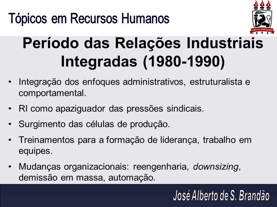 Período das Relações Industriais Integradas (1980-1990)