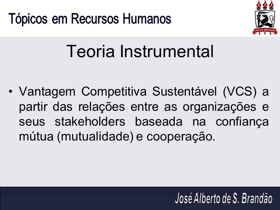 Teoria Instrumental