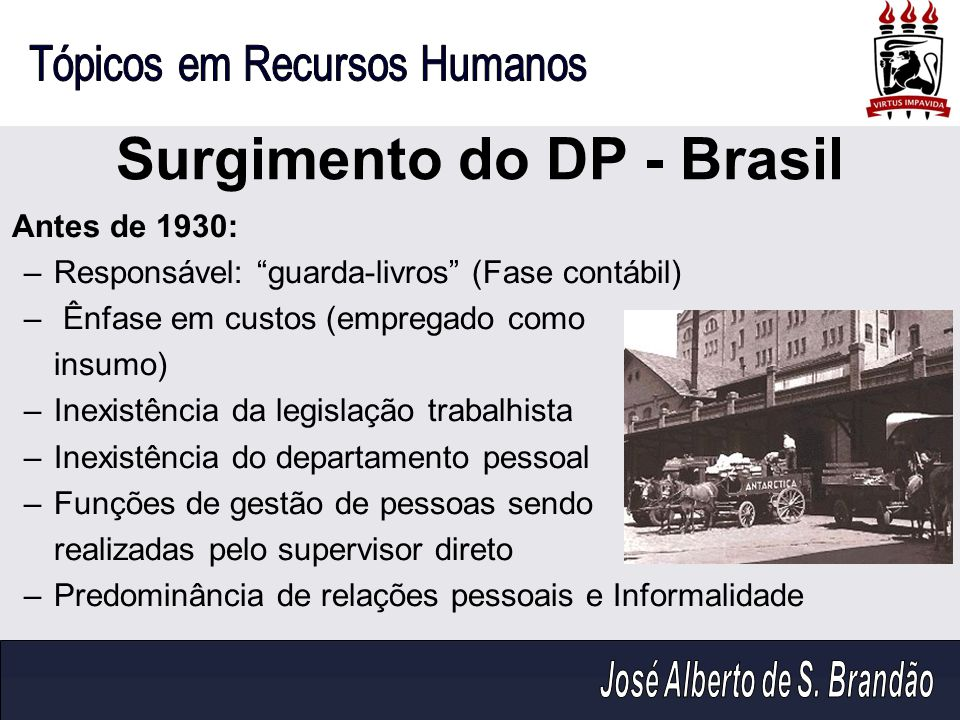 Surgimento do DP - Brasil