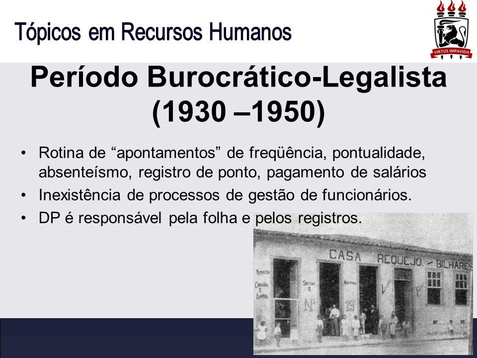 Período Burocrático-Legalista (1930 –1950)
