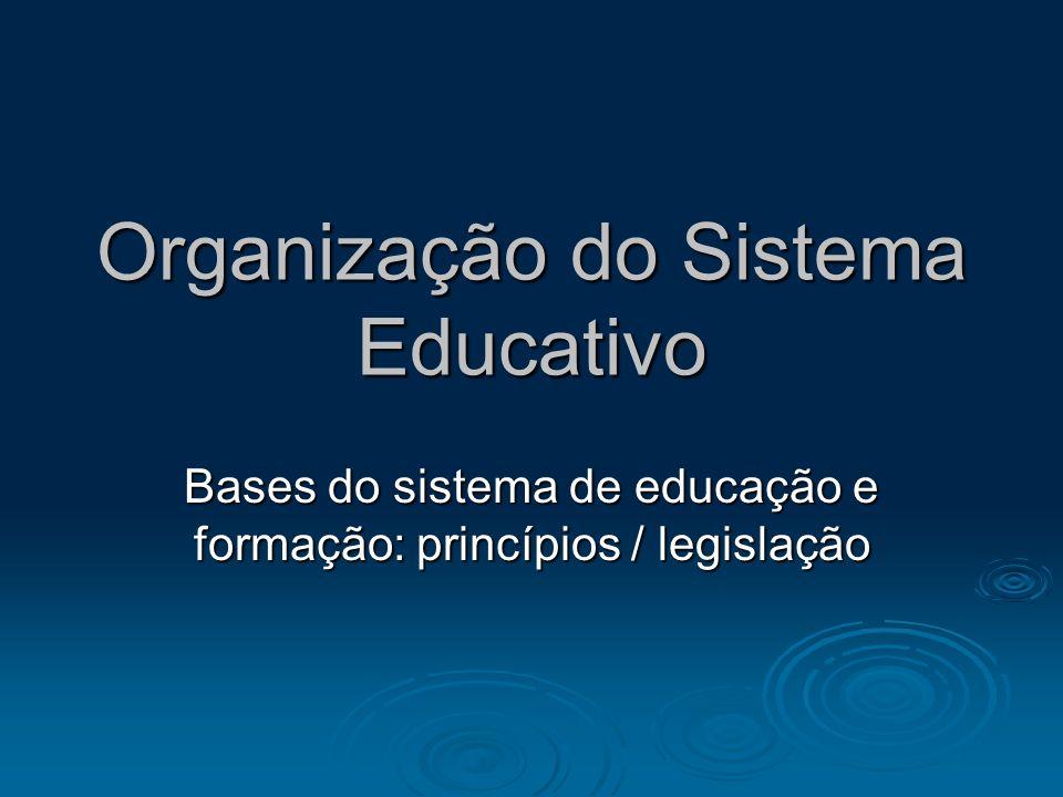 Organização do Sistema Educativo