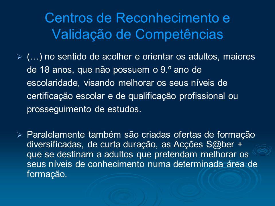 Centros de Reconhecimento e Validação de Competências