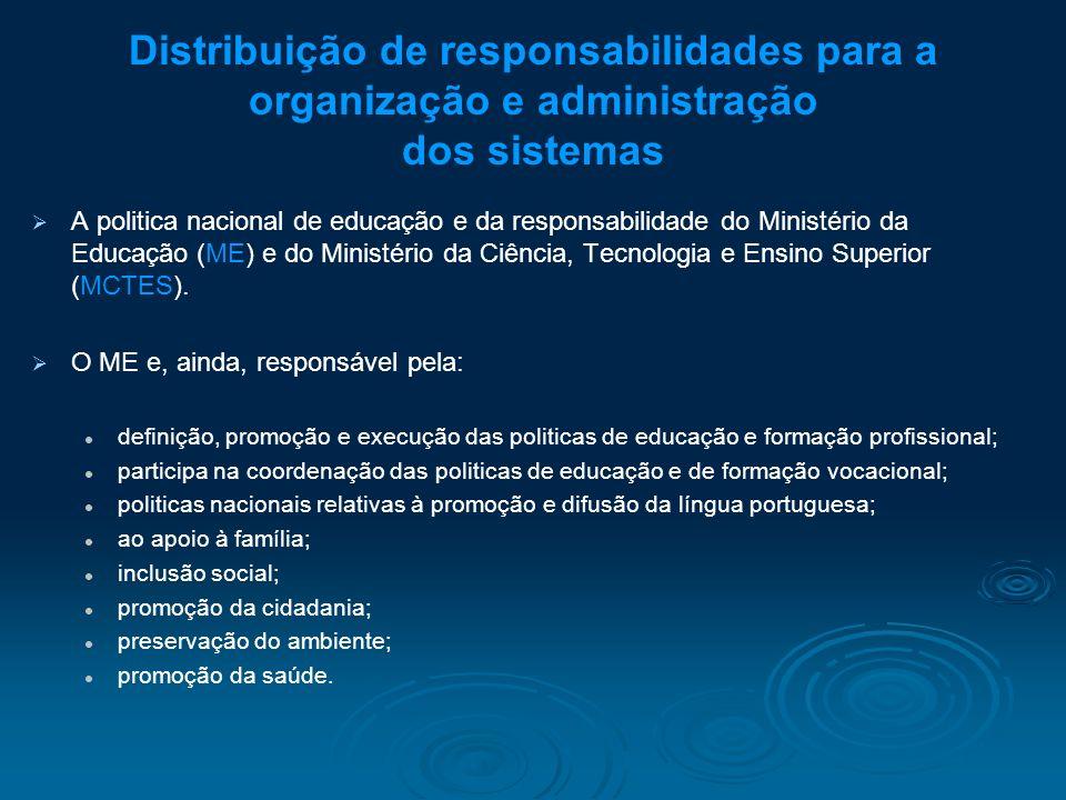 Distribuição de responsabilidades para a organização e administração dos sistemas