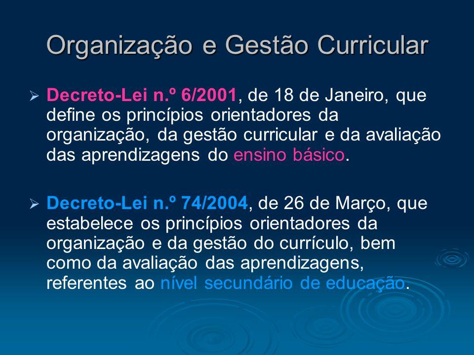 Organização e Gestão Curricular