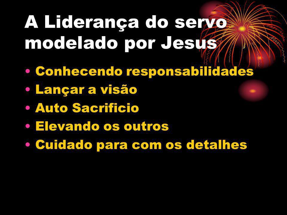 A Liderança do servo modelado por Jesus