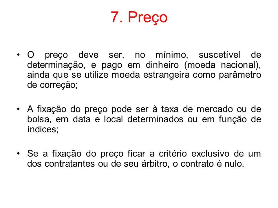 7. Preço