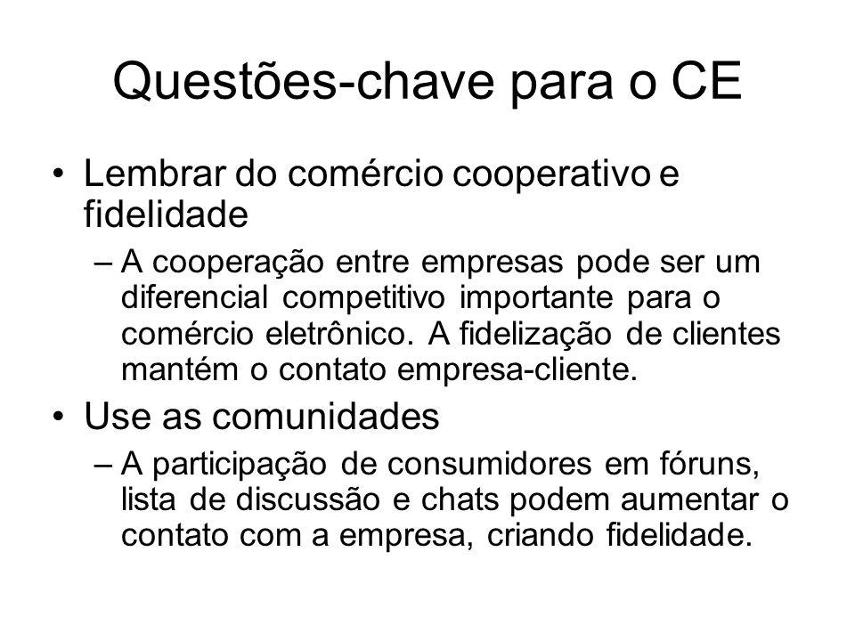 Questões-chave para o CE