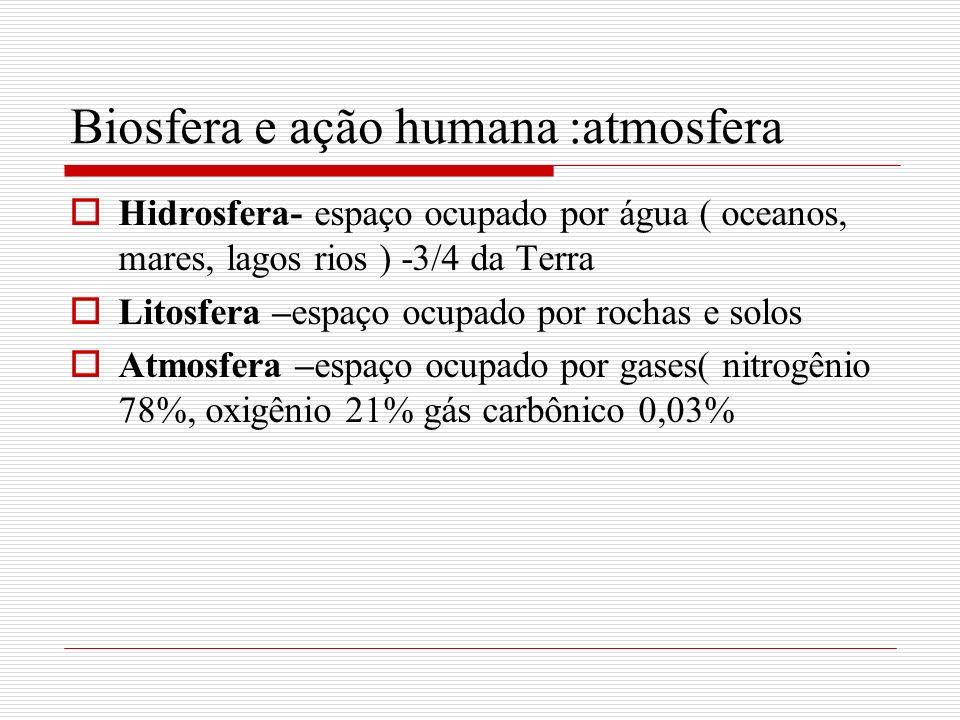 Biosfera e ação humana :atmosfera