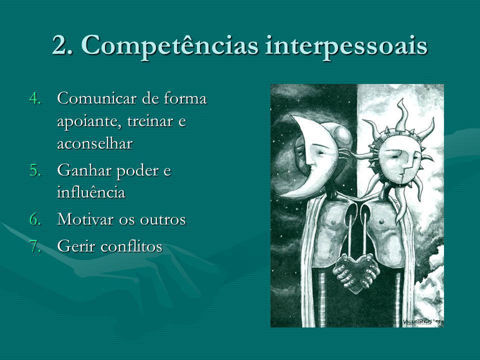 2. Competências interpessoais