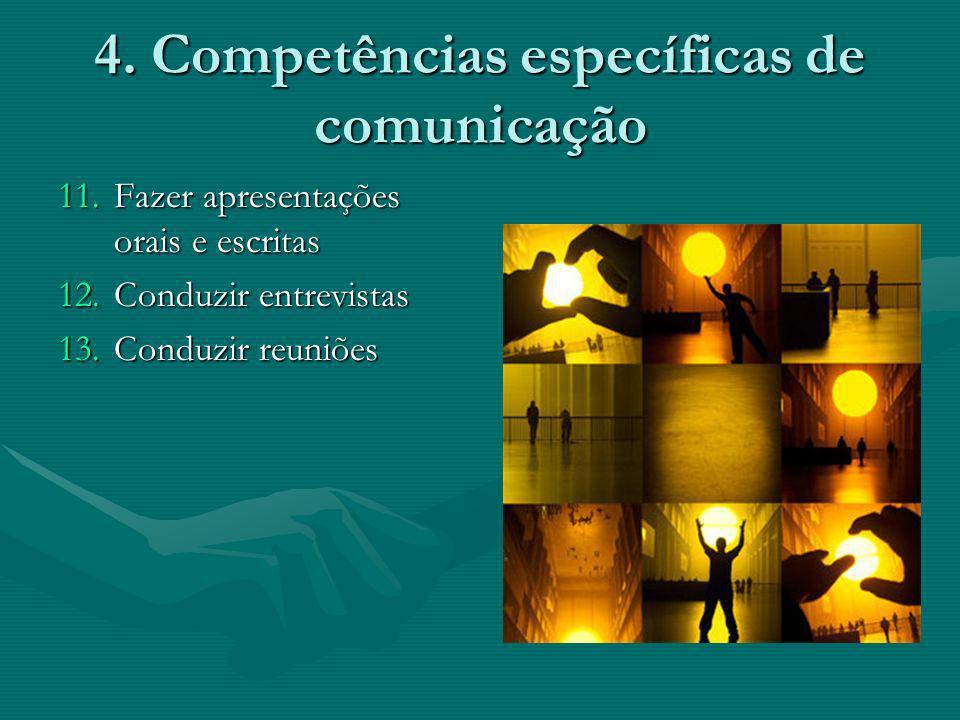 4. Competências específicas de comunicação
