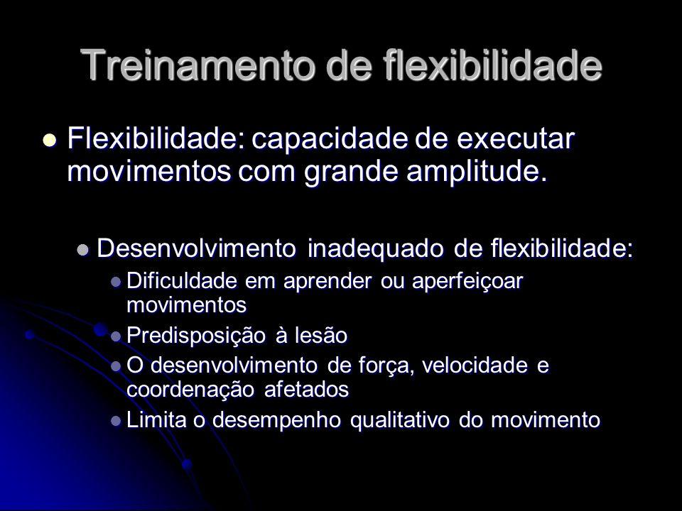 Treinamento de flexibilidade
