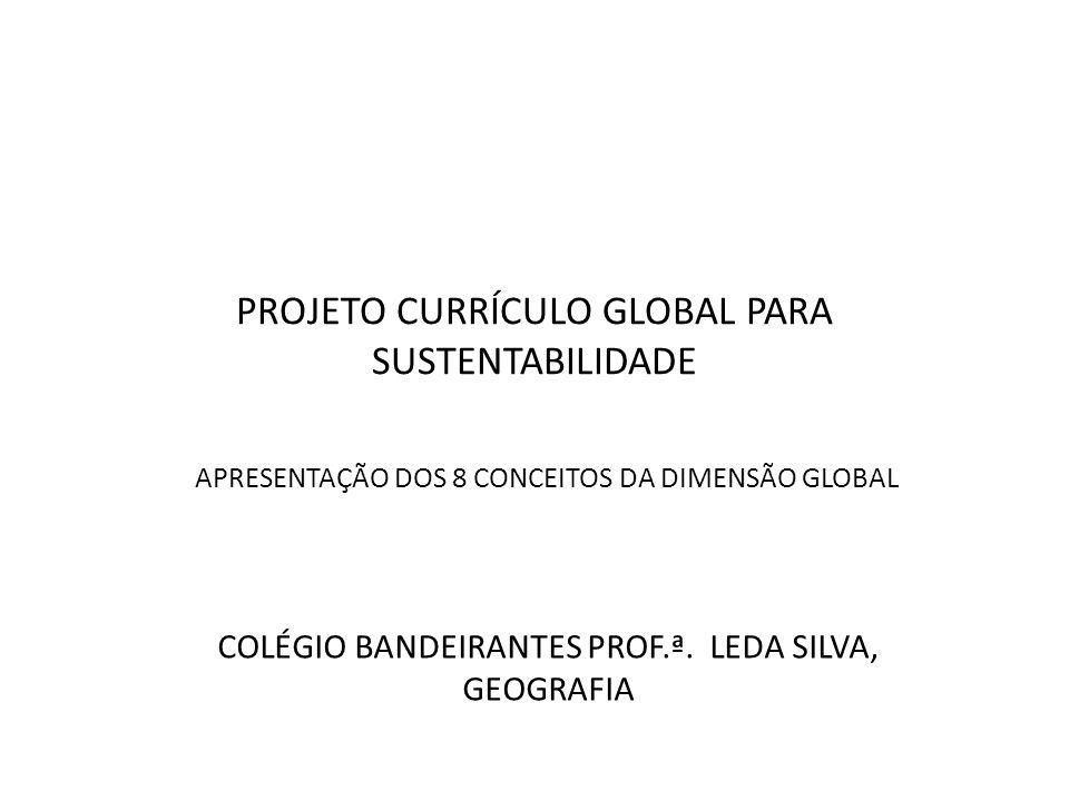 PROJETO CURRÍCULO GLOBAL PARA SUSTENTABILIDADE