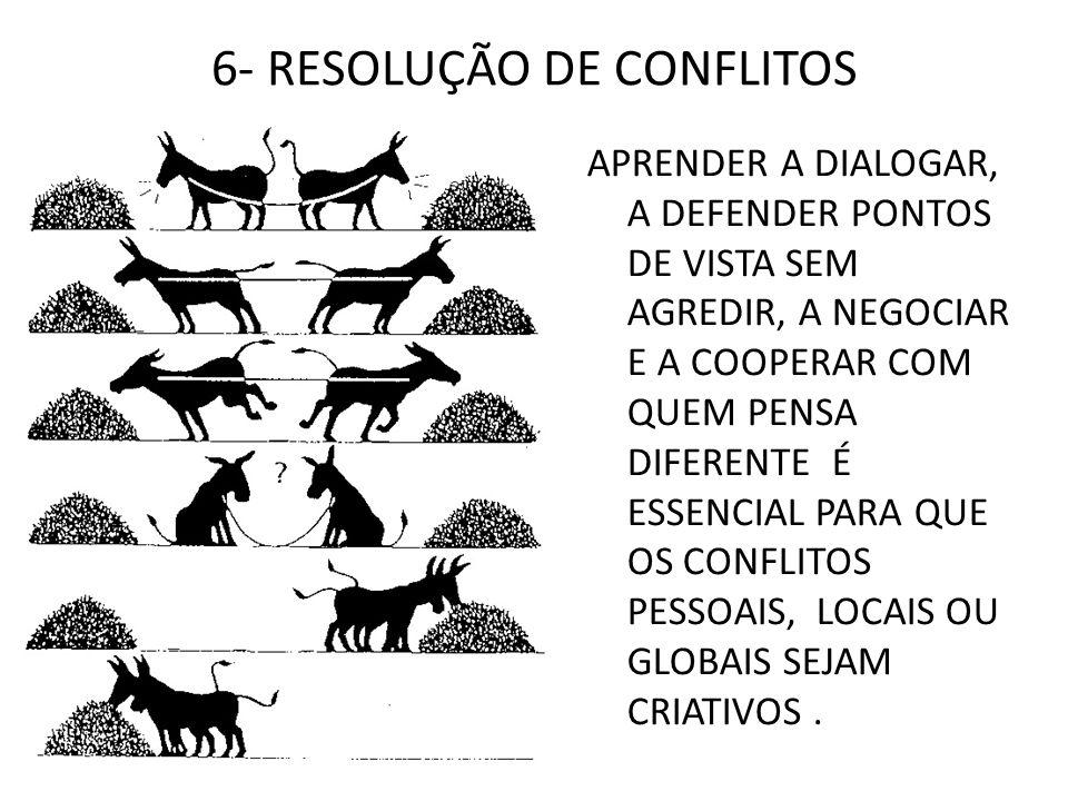 6- RESOLUÇÃO DE CONFLITOS