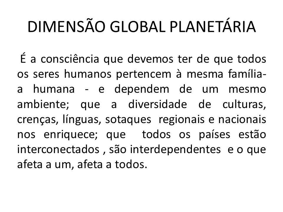 DIMENSÃO GLOBAL PLANETÁRIA