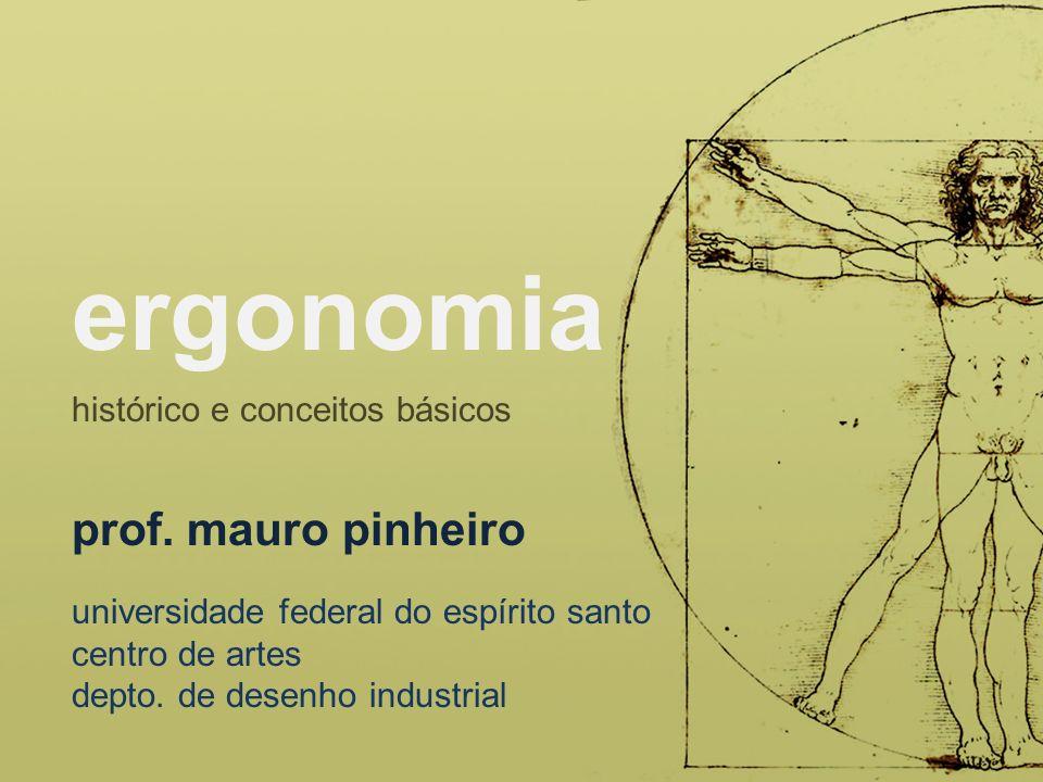 ergonomia prof. mauro pinheiro histórico e conceitos básicos