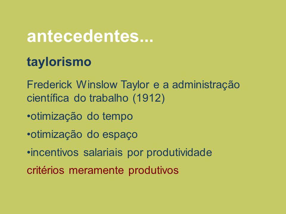 antecedentes... taylorismo
