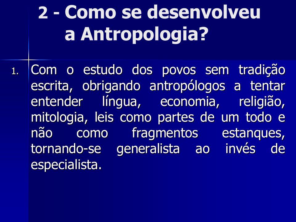 2 - Como se desenvolveu a Antropologia