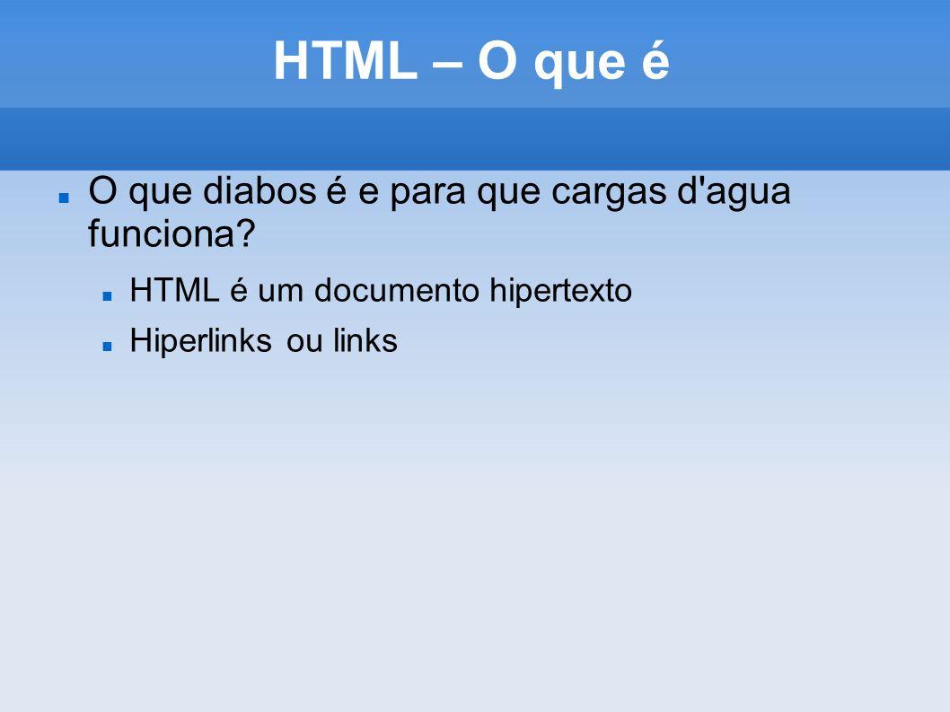 HTML – O que é O que diabos é e para que cargas d agua funciona