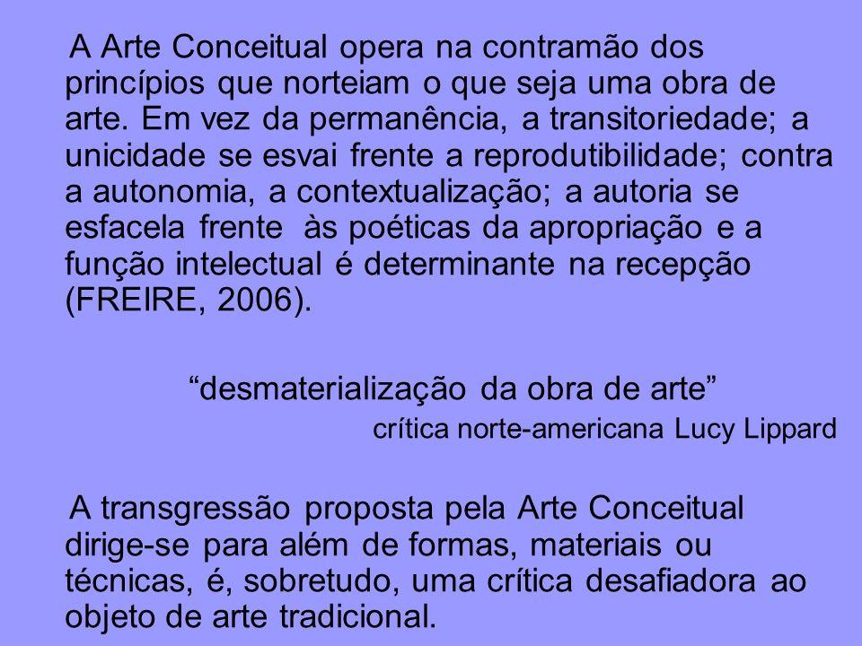 desmaterialização da obra de arte