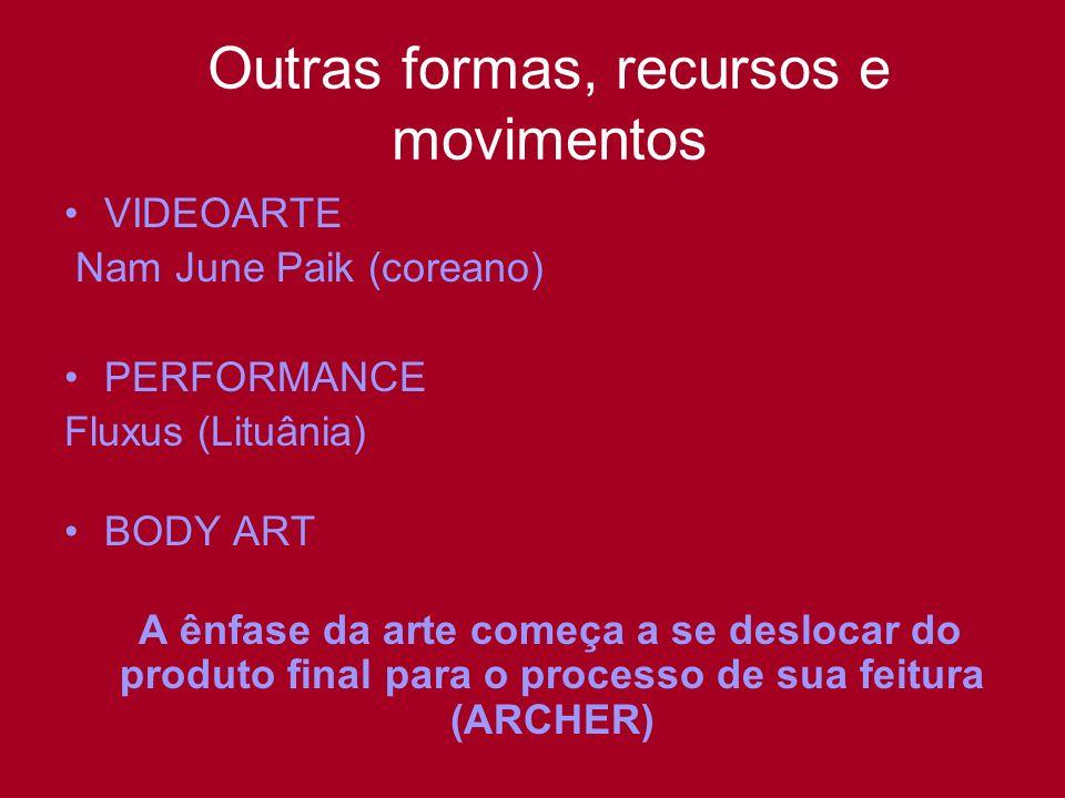 Outras formas, recursos e movimentos