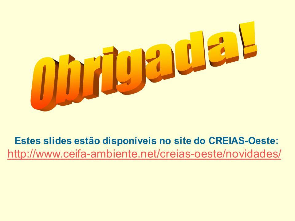 Estes slides estão disponíveis no site do CREIAS-Oeste: