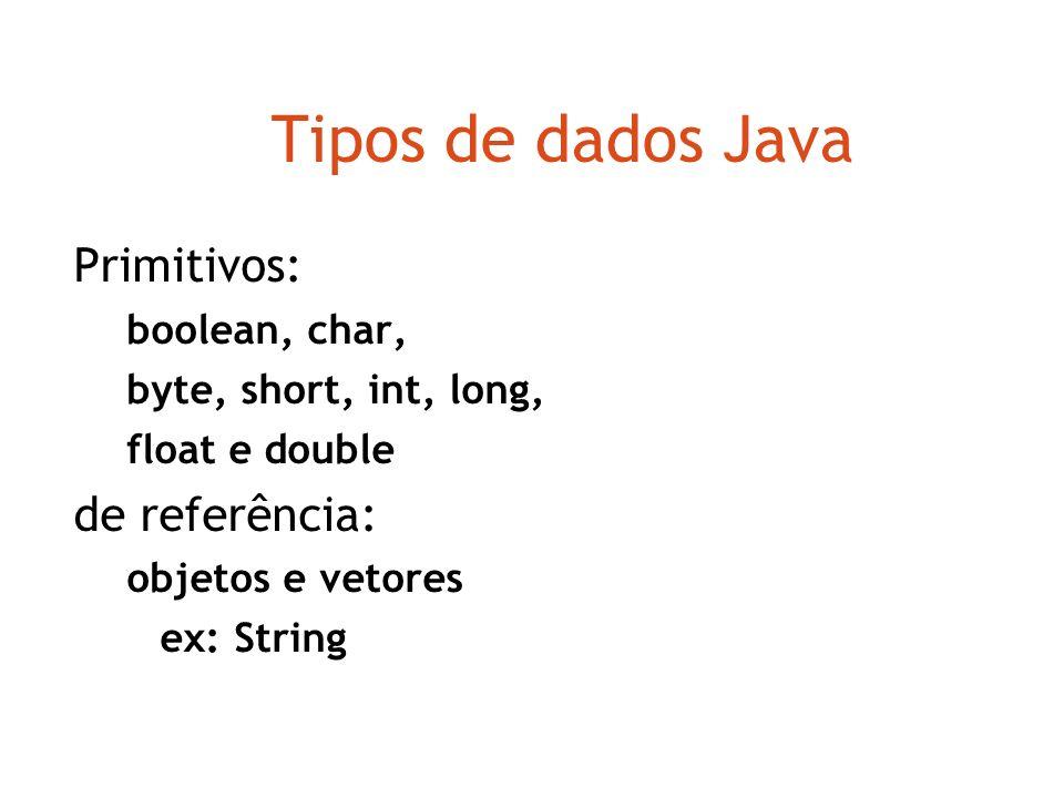 Programação orientada a objetos Java @