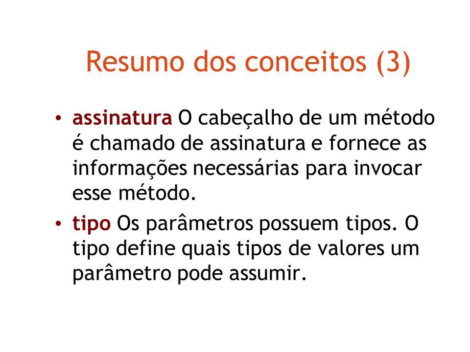 Resumo dos conceitos (3)