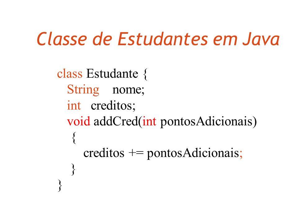 Classe de Estudantes em Java