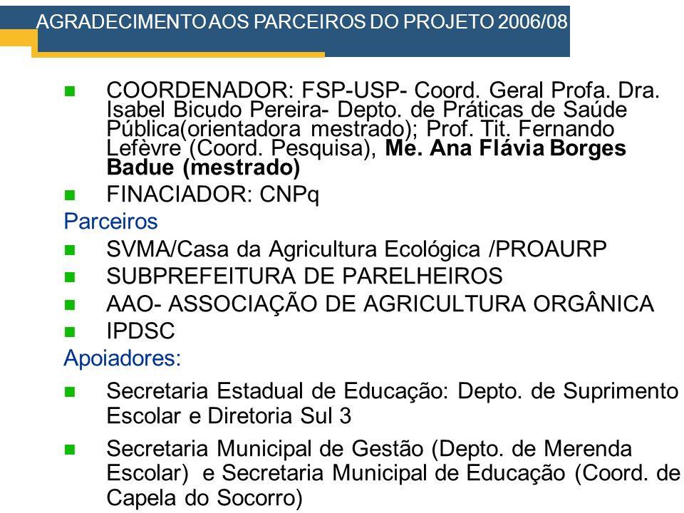 SVMA/Casa da Agricultura Ecológica /PROAURP