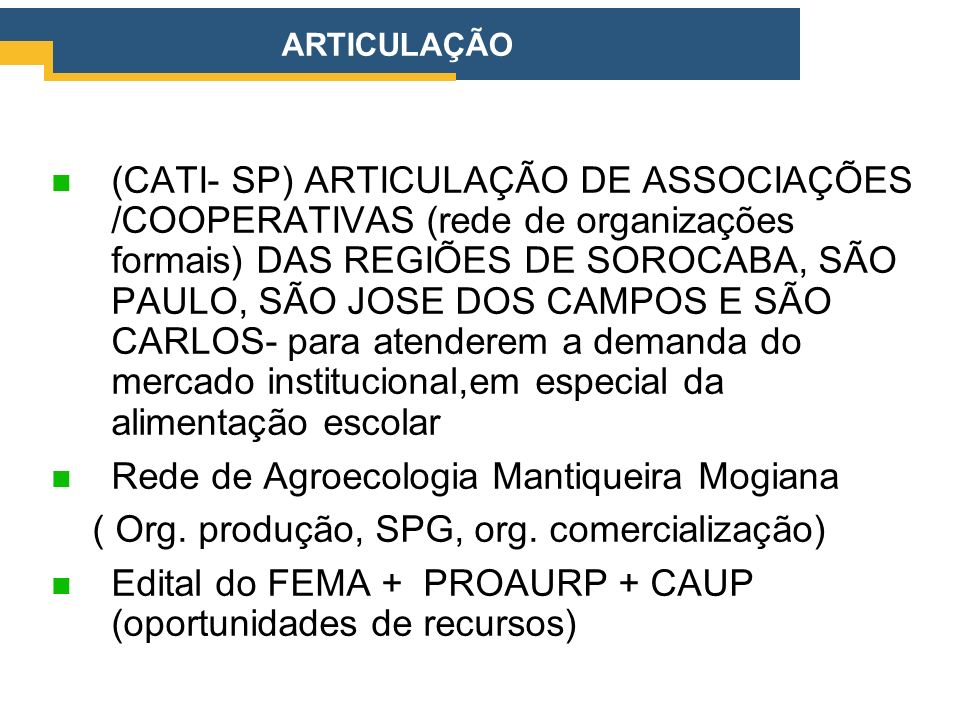 Rede de Agroecologia Mantiqueira Mogiana