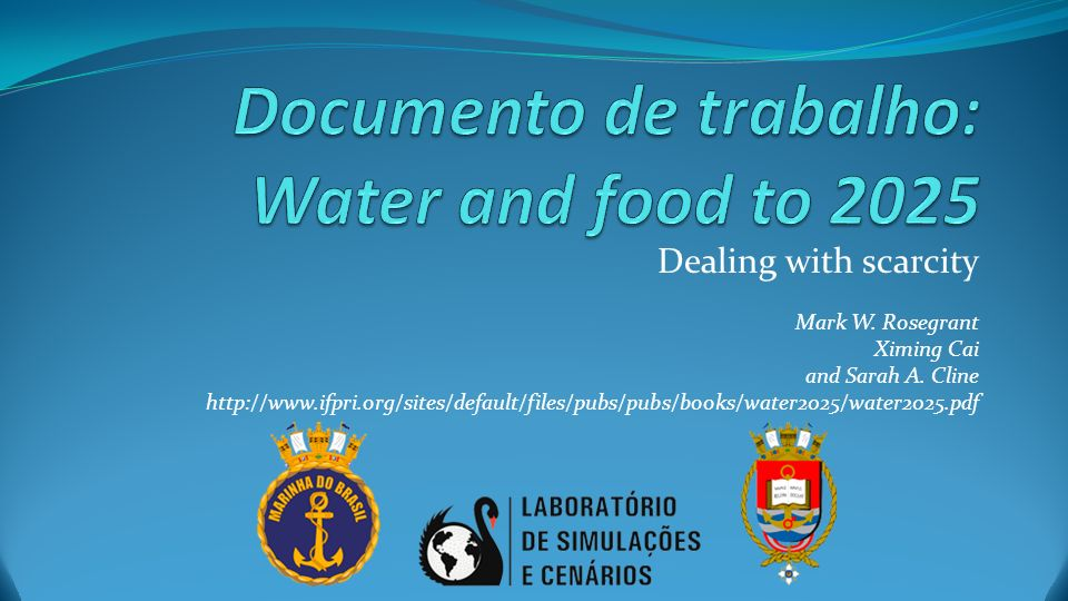 Documento de trabalho: Water and food to 2025