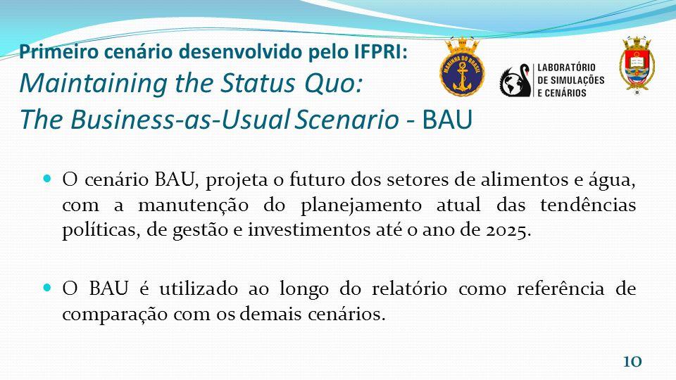 Primeiro cenário desenvolvido pelo IFPRI: Maintaining the Status Quo: The Business-as-Usual Scenario - BAU