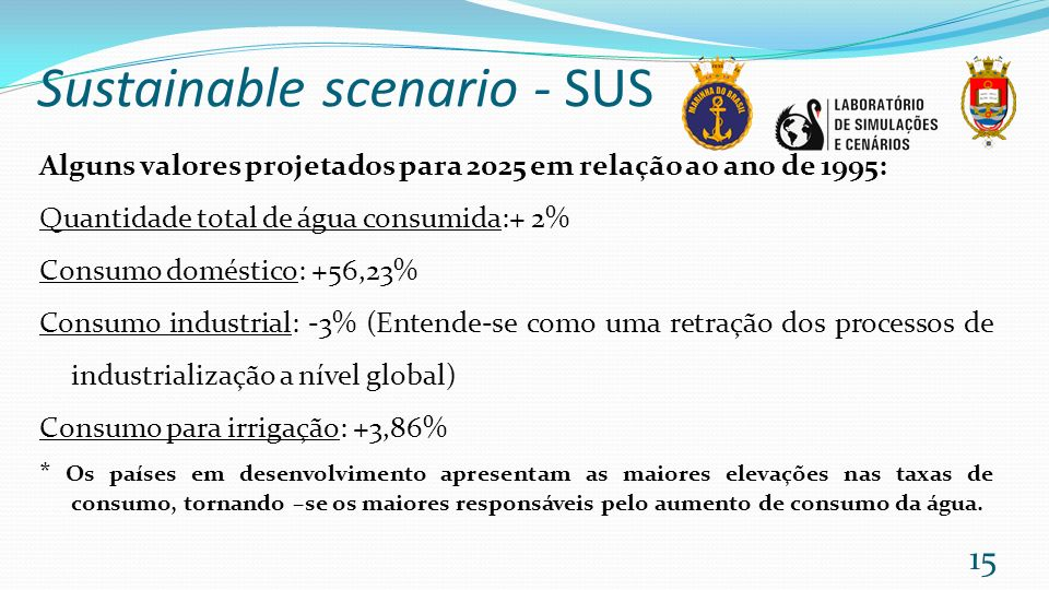 Sustainable scenario - SUS