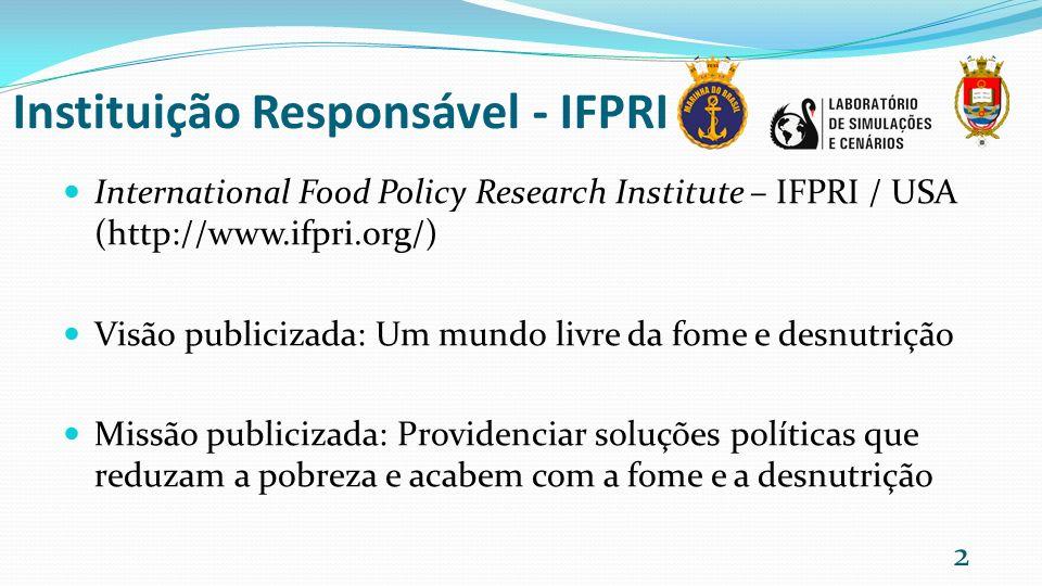 Instituição Responsável - IFPRI