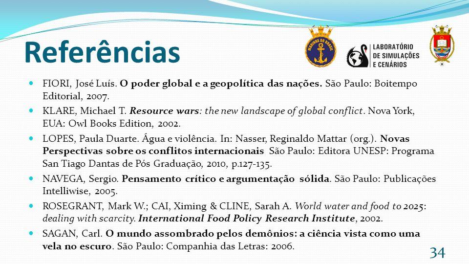 Referências FIORI, José Luís. O poder global e a geopolítica das nações. São Paulo: Boitempo Editorial, 2007.