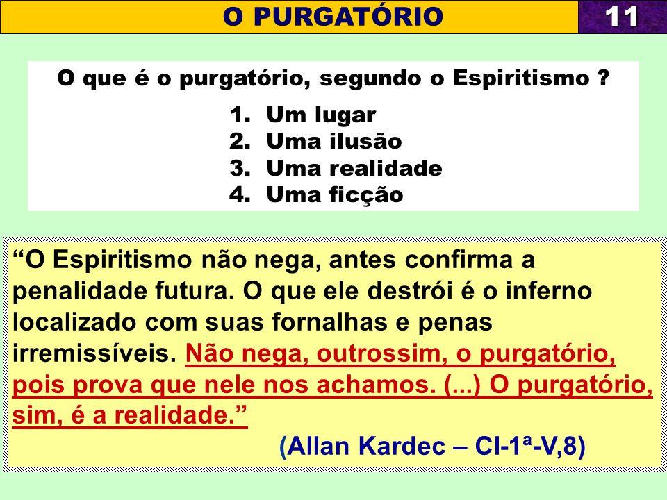 O que é o purgatório, segundo o Espiritismo