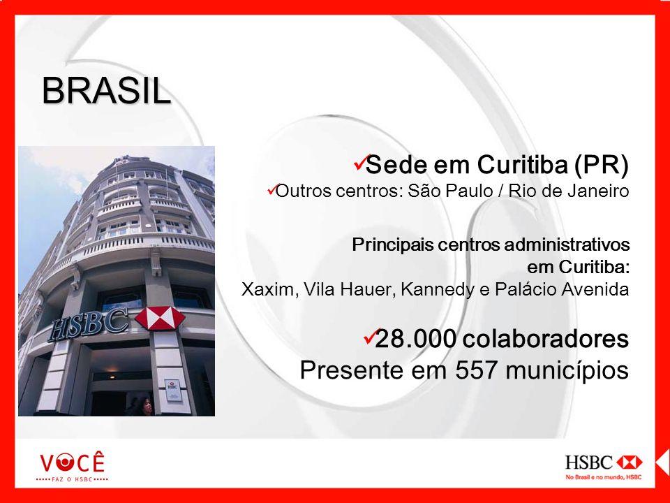 BRASIL Sede em Curitiba (PR) 28.000 colaboradores