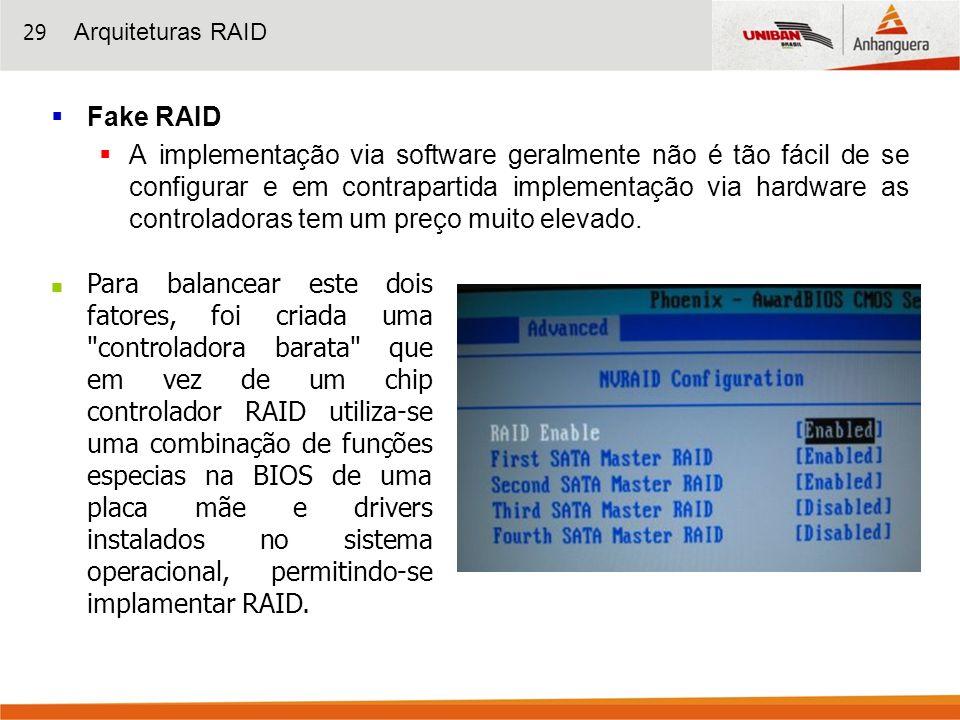 Arquiteturas RAIDFake RAID.