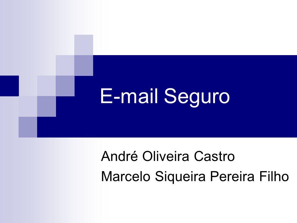 André Oliveira Castro Marcelo Siqueira Pereira Filho
