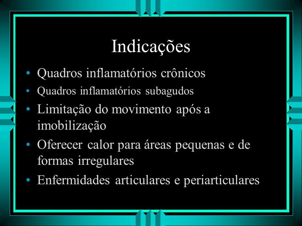 Indicações Quadros inflamatórios crônicos