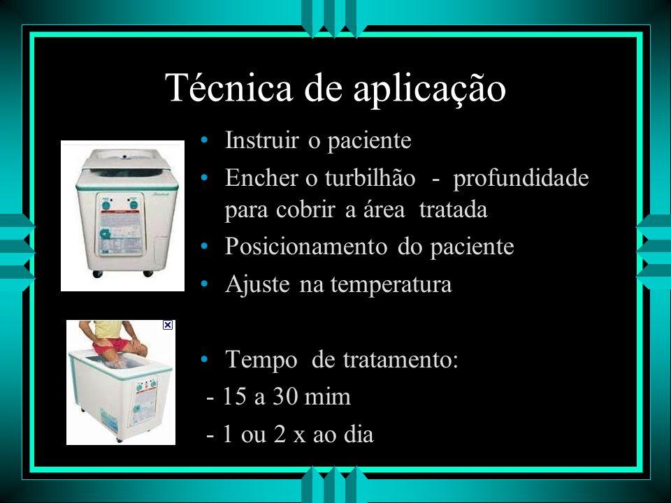 Técnica de aplicação Instruir o paciente